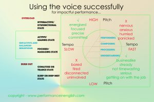 Pitch and Tempo and using the voice to impact performance.